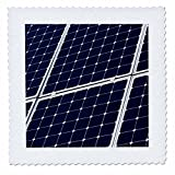 3dRose Alexis Photography - Objects - Dark blue solar power panel, white frame, diagonal view - 22x22 inch quilt square (qs_271346_9)