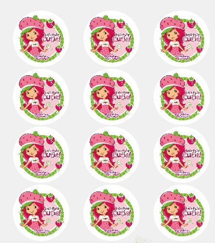 Twelve 2 Strawberry Shortcake Edible Cupcake Images Toppers Decorations by ()
