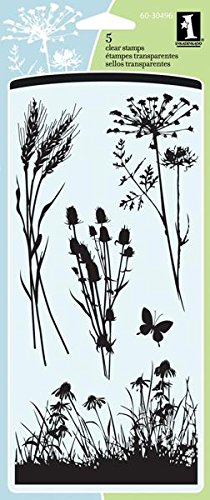 Inkadinkado Meadow Clear Stamp Acrylic Unmounted Stamp Set