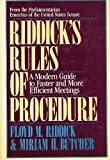 Riddick's Rules of Procedure, Floyd M. Riddick and Miriam Butcher, 0684184273