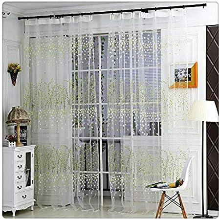 Cortina Transparente De Paneles para Sala De Estar, Visillo De ...