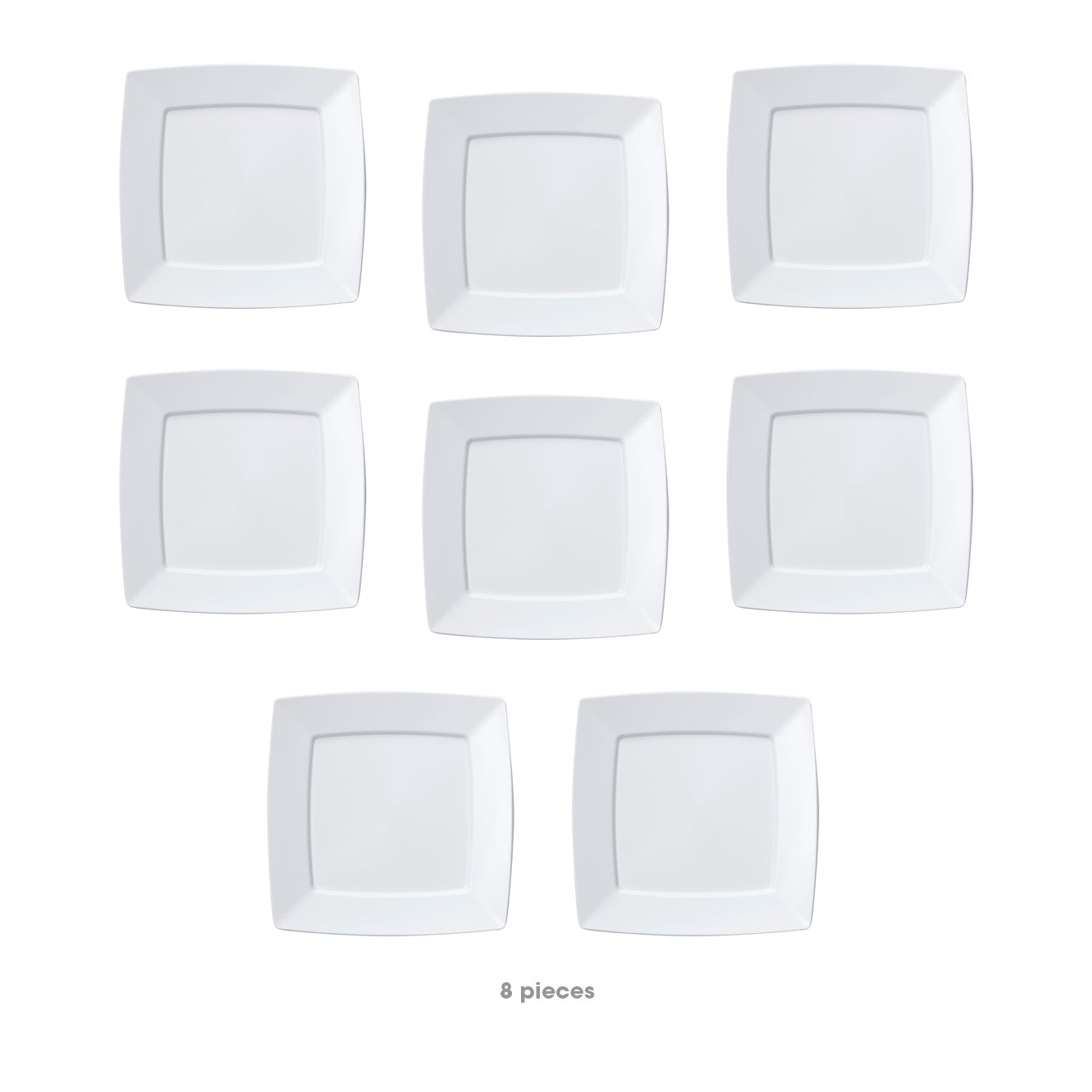 Mozaik Premium Plastic 128oz White Square Serving Bowl