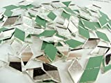 "1"" x 1/2"" diamond shape mirror mosaic tile. 150 pcs"