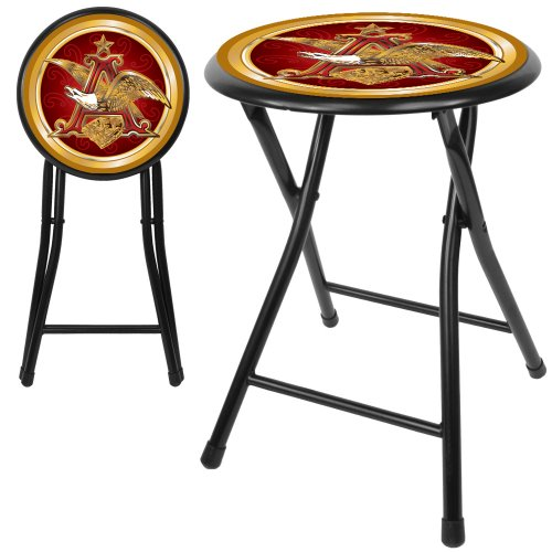 """Anheuser Busch Cushioned Folding Stool, 18"""""""