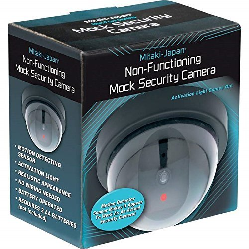 Mitaki-japan Non-Functioning Mock Security Camera No Wiring Needed/Mounting Template Included
