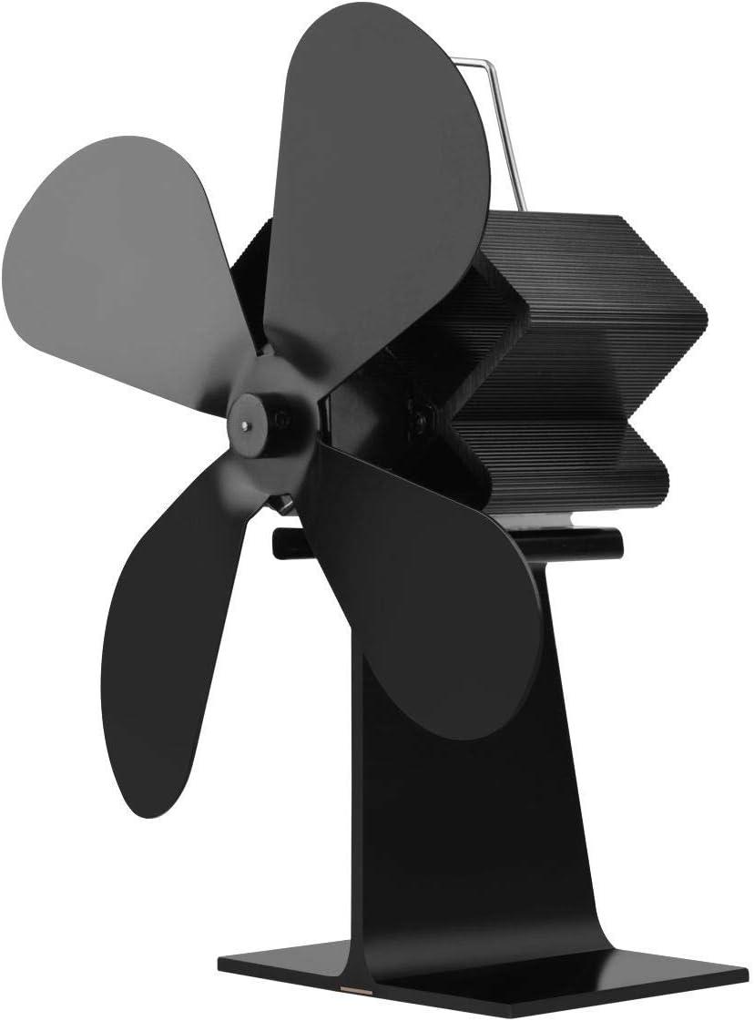 Ventilador De La Estufa De Calor Calefacción Ecológica New Air Ventilador De Chimenea De Quemador Ventilador De Circulación De Calor Circula Mejorando La Convección Del Aire Interior