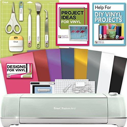 Cricut Explore Air 2 Machine Bundle   Tool Kit  Vinyl Pack  Designs   Project Inspiration