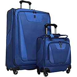 "Travelpro Maxlite 4 2-Piece Luggage Set: 29"" Expandable Spinner & Easy Carry On Under Seat Bag (Blue)"