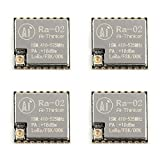 Areyourshop 4Pcs Ra-02 SX1278 Lora Spread Spectrum Wireless Module 433MHz Wireless Serial