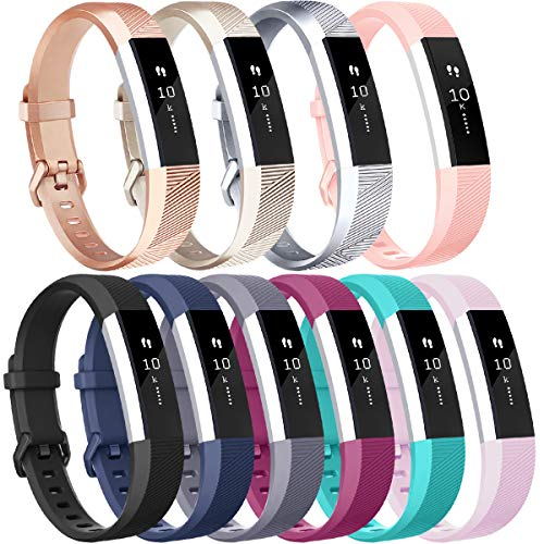 Vancle Compatible with for Fitbit Alta HR Bands for Women Men, Sport Bands Replacement for Fitbit Alta and Fitbit Alta HR, 10 Pack (#10PCs-A, Small)