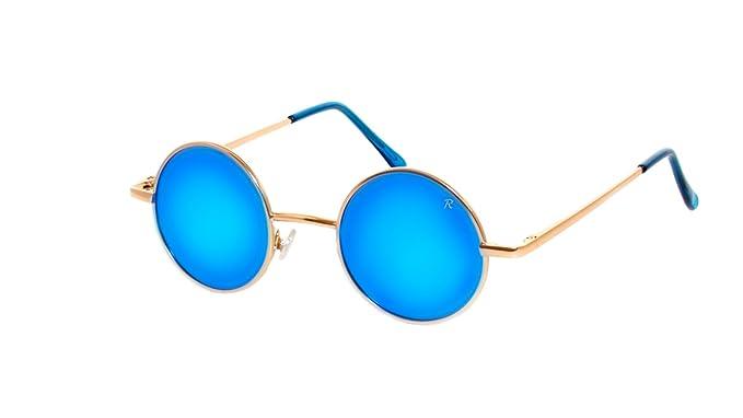 rainbow safety Gafas de Sol Redondas Retro Anteojos para el Sol Mujer Hombre Estilo Lennon Polarizadas R2317