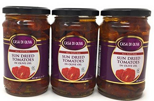 Case Olive Oil (Casa Di Oliva 11.25oz Jar (Pack of 3) Choose Flavor Below (Sun Dried Tomatoes in Olive Oil) by Casa Di Oliva)