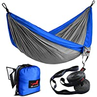 HONEST OUTFITTERS Single & Double Camping Hammock with...