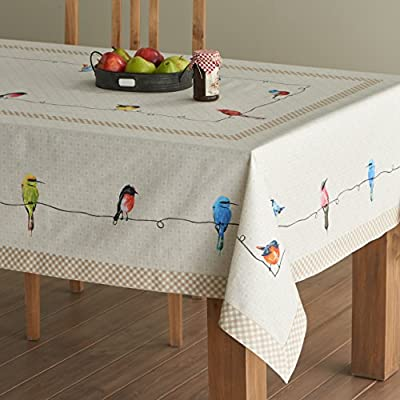 Maison d' Hermine Birdies On Wire 100% Cotton Tablecloth