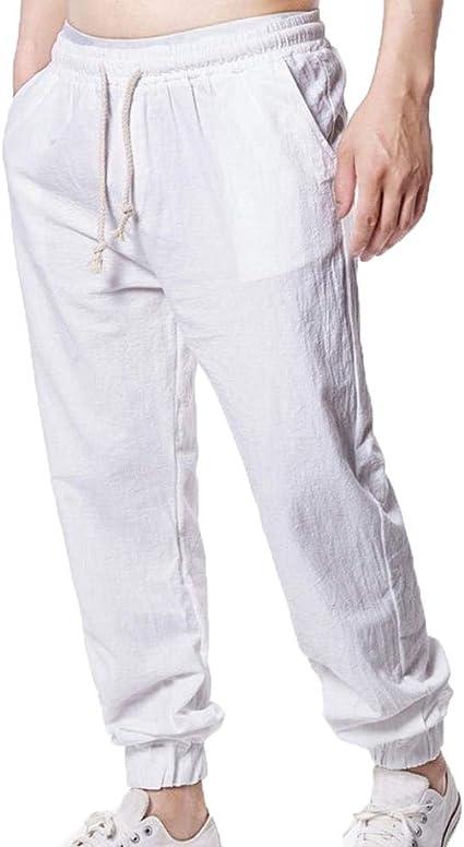 Pantaloni Da Uomo Lavoro Con Elastico Cotone Casual Autunno Moda M-2XL