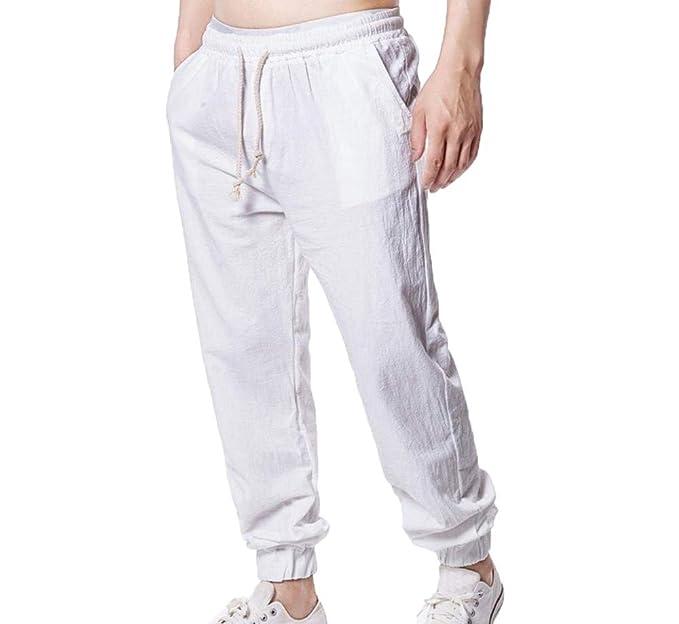 Oneforus - Pantalón - para Hombre Blanco Blanco M