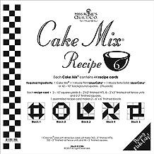 "Moda Cake Mix Recipe #6 ~44 recipe cards will make 352 2"" Fin.HST, 352 Rail Fence Units"