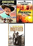 Texas 4 John Wayne Films Comancheros + Undefeated & Lawless Frontier/Lucky Texan Feature DVD Western Movie bundle
