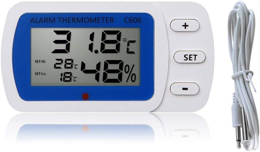 Termómetro digital LCD para frigorífico, congelador, medidor de ...