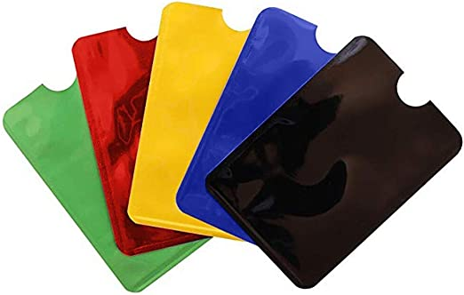 5pcs Slim Men Card Holder Protector Sleeve Wallet RFID Blocking