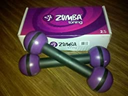 Zumba® Fitness Toning Sticks 2.5# (New Pair in Box)