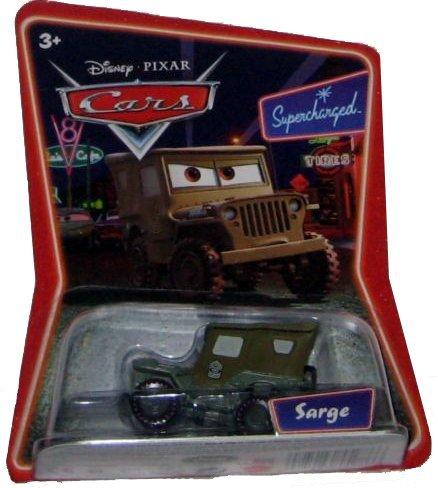 (Disney Pixar Cars Supercharged Edition Sarge 1:55 Scale Mattel)