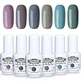 Perfect Summer UV/LED Gel Nail Polish Kit - 6 Colors Soak Off Nail Polish,8ml Each #008