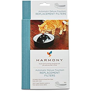 Harmony Automatic Deluxe Ceramic Cat Fountain Replacement Filters, 3 ct.
