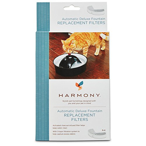 - Harmony Automatic Deluxe Ceramic Cat Fountain Replacement Filters, 3 ct.