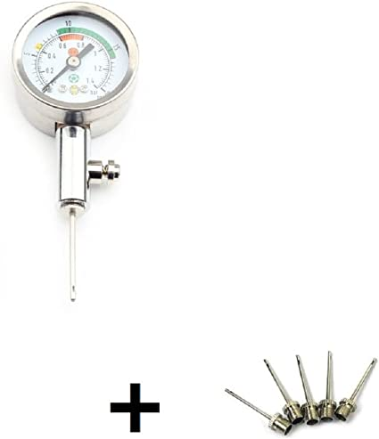 Basketball ZXJOY Ball Pressure Gauge With 5 Needles,Test and Adjust the Pressure For Football,Soccer,Rugby ball