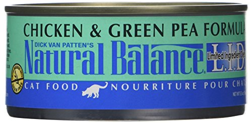 Natural Balance Lid Chicken & Green Pea Formula Canned Cat F