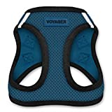 Voyager All Weather No Pull Step-in Mesh Dog Harness with Padded Vest, Best Pet Supplies, Small, Blue Base