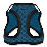 Voyager All Weather No Pull Step-in Mesh Dog Harness with Padded Vest, Best Pet Supplies, Medium, Blue Base