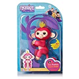 WowWee Fingerlings Bella Pink Baby Monkeywith Bonus Stand