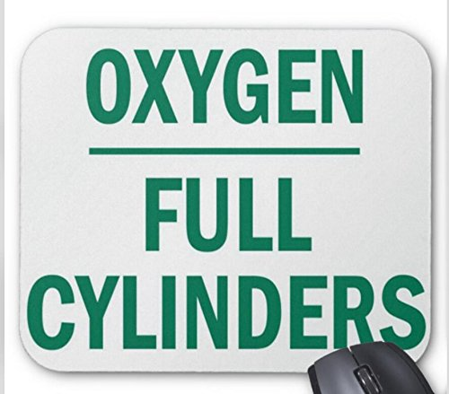 Asm Cylinder - Full Cylinder Compressed Gas Sign Mouse pad 9.84 x 11.8 inch