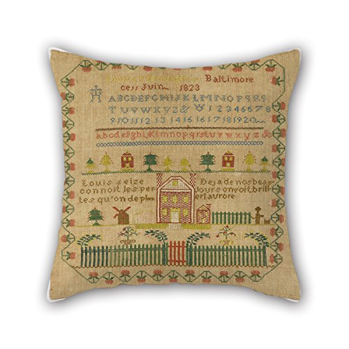 Bestseason Pillow Covers Of Oil Painting Louisa Nenninger - Sampler,for Drawing Room,her,kids Girls,boy Friend,birthday 18 X 18 Inches / 45 By 45 Cm(2 Sides) ()