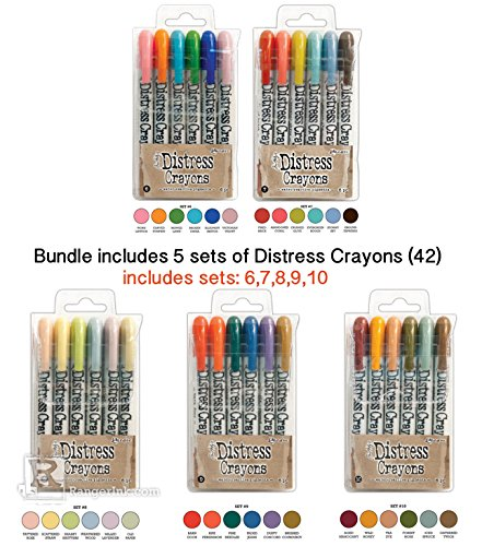 (SPECIAL BUNDLE Ranger Tim Holtz 30 Distress Crayons: Distress Crayons Sets 6,7,8,9,10 Ships mid/late Feb'17)
