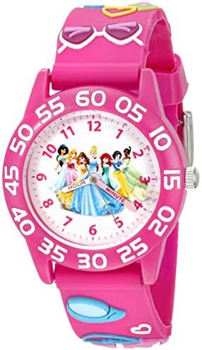 Disney Kids' W002469 Princess Time Teacher Analog Display Analog Quartz Pink Watch