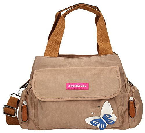 Zip Ladies SWANKYSWANS Madison Beige Shoulder with 3d Motif Day Butterfly Womens Multi Bag Designer wBUSUaq6