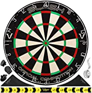Viper Slash Official Competition Bristle Steel Tip Dartboard Set with Staple-Free Ultra-Thin Metal Wiring for