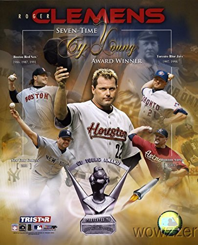 Roger Clemens MLB Cy Young Award Collage Hologram 8x10 Color Glossy Photo #1 in Mint - Cy Award Young