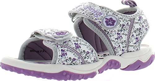 Primigi Girls Beach Sand 6 White Dainty Water Friendly Sport Sandals,White/Gray/Purple,30