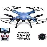 Syma X5HW WiFi FPV 2.4G 4CH RC 6 Axis Gyro Quadcopter Drone With 0.3MP HD Camera, A 360-degree 3D flips function RTF RC
