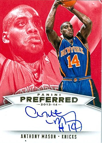 Mason Autographed Basketball - Anthony Mason autographed Basketball Card (New York Knicks) 2013 Preferred #542 Certified - Unsigned Basketball Cards