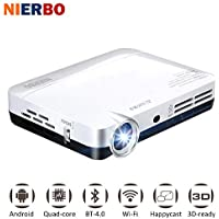 Mini 3D Projector MAX500 1080P Full HD HDMI Wifi Bluetooth Projector Video LED Pocket Projector for Phone Laptop PC
