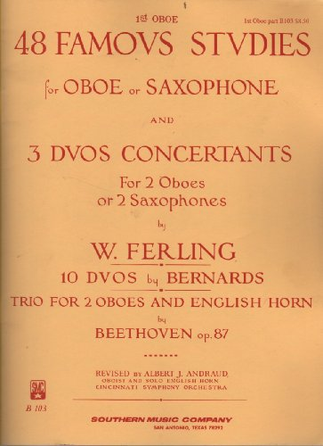48 Famous Studies for Oboe or Saxophone and 3 Duos Concertants for 2 Oboes or 2 Saxophones (Trio Saxophone Music)