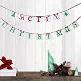 Merry Christmas Banner Sign Bunting Vintage Garland party Decor Decorations