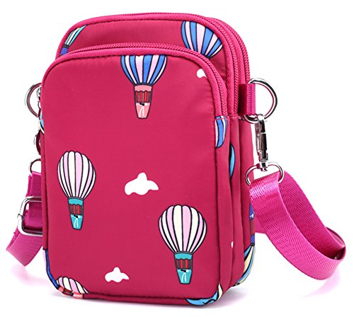 Collsants Smartphone Belt Phone Balloon Bag Purse Pouch pink Mini Clip Crossbody Nylon Cell Wallet rZznr