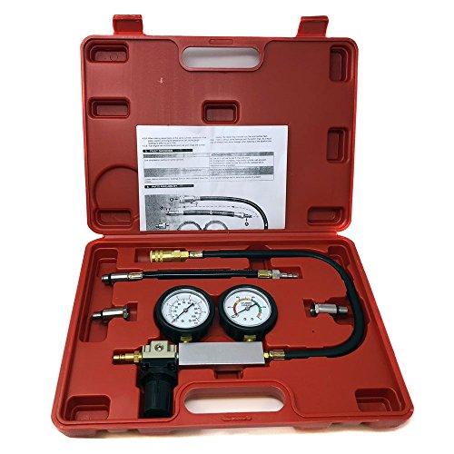 Engine Cylinder Dual Gauge Leakdown Tester kit Diagnostics Tool