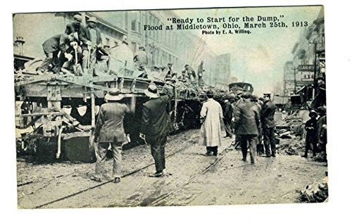 he Dump Flood Middletown Ohio Postcard March 1913 (1908 Flood)
